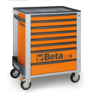 Beta C24S/8-O Mobile Roller Cab With 8 Drawers (Orange)
